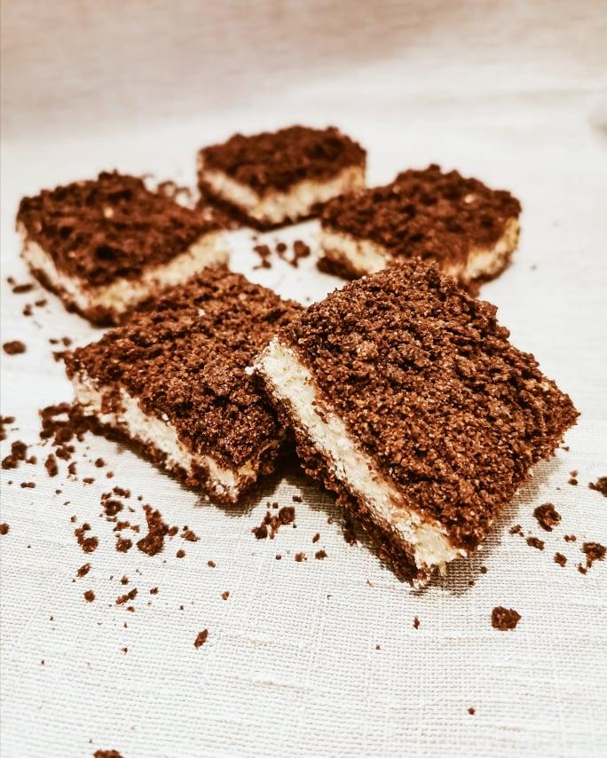 Geriebener Schoko-Quark Kuchen