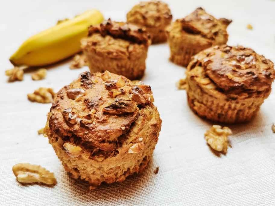 Bananen-Walnuss Muffins